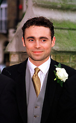 JAMES ARCHER son of Lord Archer,  at a wedding in London on 4th February 2000.OAT 78