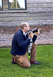 05 Sept 2019. St Denoeux, Pas de Calais, France.<br /> Messing about with cars. Warwick directs his shots. <br /> With Rob, Chris and Simon with their cars, the Porsche Boxter, Jaguar F Type and Lotus Elan Sprint at Festina Lente Gîtes. <br /> Photo©; Charlie Varley/varleypix.com