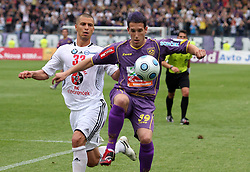 Dejan Grabic vs David Bunderla at last football match of PrvaLiga Telekom Slovenije between NK Maribor and NK Interblock, when Maribor became a Slovenian National Champion, on May 23, 2009, in Ljudski vrt, Maribor. (Photo by Marjan Kelner/Sportida)