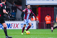 Funso Ojo of Scunthorpe United (6) in action during the EFL Sky Bet League 1 match between Scunthorpe United and Sunderland at Glanford Park, Scunthorpe, England on 19 January 2019.