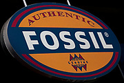 Sign for watches and accessory shop Fossil.