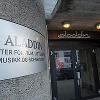 Fasaden til Aladdin scene i Kristiansand. Senter for film, litteratur, musikk og scenekunst.