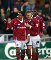 Fotball<br /> FA Cup England 2004/2005<br /> 3. runde<br /> 08.01.2005<br /> Foto: Colorsport/Digitalsport<br /> NORWAY ONLY<br /> <br /> Lee Williamson (Northampton) celebrates his goal with Martin Smith<br /> <br /> Northampton Town v Southampton