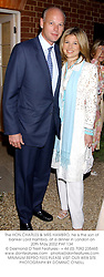 The HON.CHARLES & MRS HAMBRO, he is the son of banker Lord Hambro, at a dinner in London on 20th May 2002.PAF 134