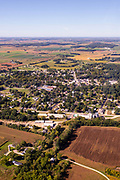 Aerial photograph of Albany, Green County, Wisconsin, USA.