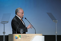 May 30, 2017 - Sao Paulo, Sao Paulo, Brazil - May 30, 2017 - Sao Paulo, Sao Paulo, Brazil - The President of Brazil, Michel Temer, during the Brazil Investment Forum 2017, at the Grand Hyatt Hotel, in the south zone of the city of Sao Paulo  (Credit Image: © Marcelo Chello/CJPress via ZUMA Wire)
