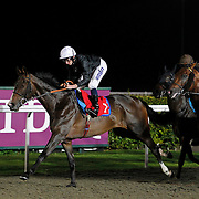Aegaeus and Ryan Moore winning the 8.30 race
