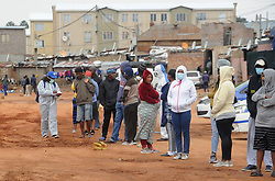 South Africa - Johannesburg - 27 April 2020 - A residents of Alexandra township queue to be screened and tested for COVID-19, the campaign is targeting Johannesburg epicenter. <br /> Picture: Itumeleng English/African News Agency(ANA)