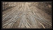 View of the tracks, Gara de Nord, Bucharest<br /> <br /> Digital print 24x36