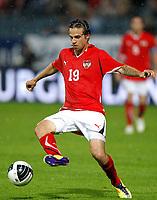 Fotball<br /> Østerrike v Latvia<br /> Graz 07.06.2011<br /> Foto: Gepa/Digitalsport<br /> NORWAY ONLY<br /> <br /> Bild zeigt Martin Harnik (AUT).