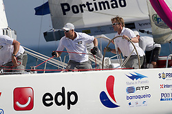 Ian Williams on day 1 of Portimao Portugal Match Cup 2010. World match Racing Tour. Portimao, Portugal. 23 June 2010. Photo: Gareth Cooke/Subzero Images