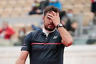 Stan Wawrinka (SUI) reacted during the Roland Garros 2020, Grand Slam tennis tournament, on September 30, 2020 at Roland Garros stadium in Paris, France - Photo Stephane Allaman / ProSportsImages / DPPI