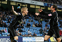 Photo: Paul Thomas.<br />Manchester City v Scunthorpe United. The FA Cup.<br />07/01/2006.<br />Scunthorpe's Andy Keogh (L) celebrates his goal with Peter Beagrie.