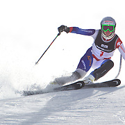 Denise Feierabend, Switzerland, in action during the Women's Slalom event during the Winter Games at Cardrona, Wanaka, New Zealand, 24th August 2011. Photo Tim Clayton...