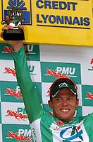 Sykkel<br /> Tour de France 2004<br /> 1. etappe<br /> 04.07.2004<br /> Foto: Dppi/Digitalsport<br /> NORWAY ONLY<br /> <br /> THOR HUSHOVD (NOR) / CREDIT AGRICOLE