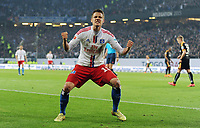 Fotball<br /> Tyskland<br /> 28.05.2015<br /> Foto: Witters/Digitalsport<br /> NORWAY ONLY<br /> <br /> 1:1 Jubel Torschuetze Ivo Ilicevic (HSV)<br /> Fussball Bundesliga, Relegation Hinspiel, Hamburger SV - Karlsruher SC
