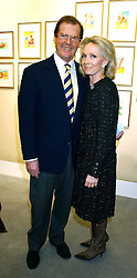 Actor ROGER MOORE and his wife KIKI  THOLSTRUP at an exhibition of postcards by the late Donald McGill hosted by Michael Winner at Chris Beetles, 8&10 Ryder Street, London SW1 on 14th March 2006.<br /><br />NON EXCLUSIVE - WORLD RIGHTS