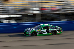 FONTANA, CA - MAR 18 NASCAR driver Austin Dillon won the Coors Light Pole Award on Friday at Auto Club Speedway and will lead the field to Sunday's Auto Club 400    in ((3:30 p.m. ET, FOX, MRN, SiriusXM NASCAR Radio). This is the Richard Childress Racing driver's first pole win this season and his second of his Sprint Cup Series career. Dillon turned a lap in 38.2 seconds flat in his Richard Childress Racing Chevrolet, edging Kevin Harvick by .031 seconds. Los Angeles, USA. 2016 Mar 18. Byline, credit, TV usage, web usage or linkback must read SILVEXPHOTO.COM. Failure to byline correctly will incur double the agreed fee. Tel: +1 714 504 6870.