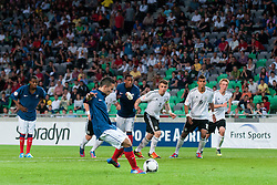 Zakarie Labidi of France kicks a ball during the UEFA European Under-17 Championship Group A match between Germany and France on May 10, 2012 in SRC Stozice, Ljubljana, Slovenia. Germany defeated France 3:0. (Photo by Matic Klansek Velej / Sportida.com)