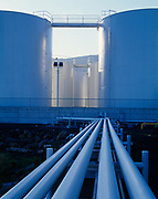 Petroleum lines from Petro Marine Service's tank farm, Craig, Southeast Alaska.