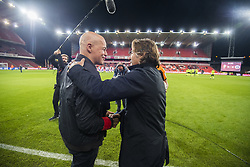 September 20, 2017 - Liege, BELGIUM - Heist's head coach Karel Keleman and Standard's head coach Ricardo Sa Pinto pictured at the start of a Croky Cup 1/16 final game between Standard de Liege and KSK Heist (1 Am), in Liege, Wednesday 20 September 2017. BELGA PHOTO LAURIE DIEFFEMBACQ (Credit Image: © Laurie Dieffembacq/Belga via ZUMA Press)