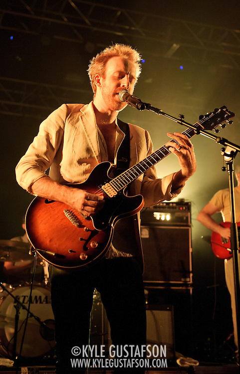 COLUMBIA, MD - July 22nd, 2012 - Hot Chip guitarist Al Doyle performs at Merriweather Post Pavilion in Columbia, MD. The band released their fifth studio album, In Our Heads, in April.  (Photo by Kyle Gustafson/For The Washington Post)