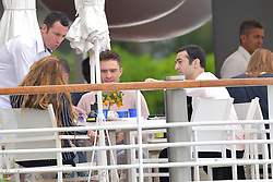 Ed Westwick meet Michelle Rodriguez at Eden Roc during Cannes Film Festival. 21 May 2019 Pictured: Ed Westwick meet Michelle Rodriguez at Eden Roc during Cannes Film Festival. Photo credit: EliotPress / MEGA TheMegaAgency.com +1 888 505 6342