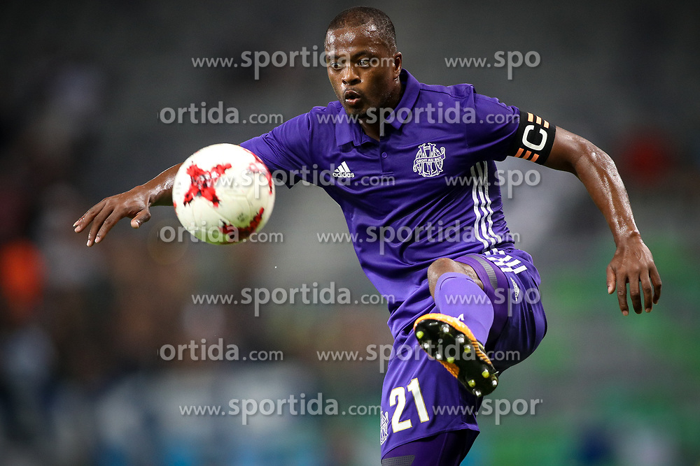 Patrice Evra of Olympic Marseille during football match between NK Domzale and Olympique de Marseille in First game of UEFA Europa League playoff round, on August 17, 2017 in SRC Stozice, Ljubljana, Slovenia. Photo by Morgan Kristan / Sportida