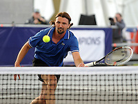 Brodies Champions of Tennis.<br /> Tim Henman takes on Wayne Goran Ivanisevic  in the third match of the tournament.<br /> Pic shows: Ivanisevic in action.