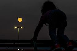 July 26, 2018 - Sorocaba, Brazil - SOROCABA, SP - 26.07.2018: LUA CHEIA EM SOROCABA SP - Lua view of Sorocaba, SP, is already practically full (99%) this Wednesday, one day of the total lunar eclipse, which happens tomorrow. (Credit Image: © Cadu Rolim/Fotoarena via ZUMA Press)