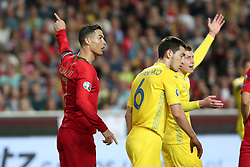 March 22, 2019 - Lisbon, Portugal - Portugal's forward Cristiano Ronaldo gestures during the UEFA EURO 2020 group B qualifying football match Portugal vs Ukraine, at the Luz Stadium in Lisbon, Portugal, on March 22, 2019. (Credit Image: © Pedro Fiuza/ZUMA Wire)