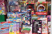 Display specialist toy shop window Woodbridge Suffolk