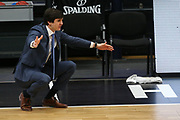 Basketball: Deutschland, 1. Bundesliga, Hamburg Towers -  Telekom Baskets Bonn, Hamburg, 12.02.2021<br /> Trainer Pedro Calles (Towers)<br /> © Torsten Helmke