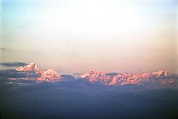 Everest Mountain Ridge From Airplane