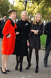 Left to right, LADY HESKETH and her daughters The HON.SOPHIA HESKETH and the HON.FLORA HESKETH at the wedding of Clementine Hambro to Orlando Fraser at St.Margarets Westminster Abbey, London on 3rd November 2006.<br /><br />NON EXCLUSIVE - WORLD RIGHTS