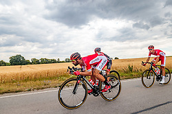 04.07.2017, Pöggstall, AUT, Ö-Tour, Österreich Radrundfahrt 2017, 2. Etappe von Wien nach Pöggstall (199,6km), im Bild Jerome Cousin (FRA, Cofidis Solutions Credits) // during the 2nd stage from Vienna to Pöggstall (199,6km) of 2017 Tour of Austria. Pöggstall, Austria on 2017/07/04. EXPA Pictures © 2017, PhotoCredit: EXPA/ JFK