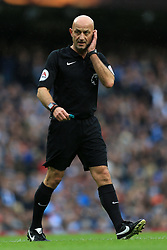 21st October 2017 - Premier League - Manchester City v Burnley - Referee Roger East - Photo: Simon Stacpoole / Offside.