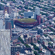 Aerial footage shows a New York City that remains virtually empty with closed businesses and limited traffic due to the Coronavirus (Covid-19) outbreak along with the continuing protests due to the police killing of George Floyd on Monday, June 1, 2020 in New York City.  Nonessential businesses have been closed and large gatherings have been banned across the state since March 22 under an emergency order issued by Governor Cuomo and an 11 p.m. curfew was ordered by NY Mayor Bill de Blasio amid the Floyd protests. (Alex Menendez via AP)