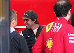 February 26, 2019 - Barcelona, Spain - Fernando Alonso in the hospitality of Ferrari during the Formula 1 test in Barcelona, on 26th February 2019, in Barcelona, Spain. (Credit Image: © Joan Valls/NurPhoto via ZUMA Press)