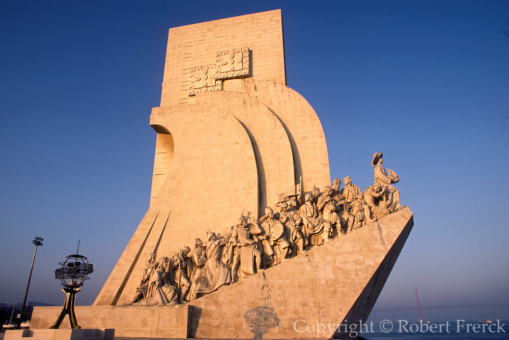 PORTUGAL, LISBON Monument to the Discoveries c1960 commemorates Portugal's explorers; the first figure is Henry the Navigator