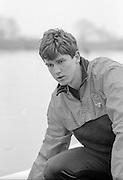 Staines, GREAT BRITAIN,   <br /> Steve PEEL.<br /> British Rowing Men's Heavy Weight Assessment. Thorpe Park. Sunday 27.02.1987,<br /> <br /> [Mandatory Credit, Peter Spurrier / Intersport-images] 1987 GBR Men's H/Weight 3rd Assessment Thorpe Park, Surrey. UK