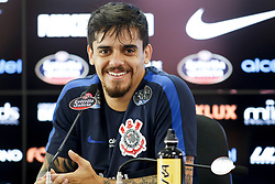 November 22, 2017 - Brazil - SAO PAULO, SP - 22.11.2017: TREINO DO CORINTHIANS - Fagner's collective interview during Corinthians training at CT Joaquim Grava's CT, East Zone of Sao Paulo. The team prepares for the clash against Atletico Mineiro, valid for the 37th round of the Brasileirao 2017. (Credit Image: © Fotoarena via ZUMA Press)