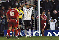 Photo: Paul Thomas.<br />Fulham v Leyton Orient. The FA Cup. 08/01/2006.<br /><br />Fulham's Collins John misses a penalty.