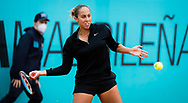 Madison Keys of the United States playing doubles at the Mutua Madrid Open 2021, Masters 1000 tennis tournament on May 3, 2021 at La Caja Magica in Madrid, Spain - Photo Rob Prange / Spain ProSportsImages / DPPI / ProSportsImages / DPPI