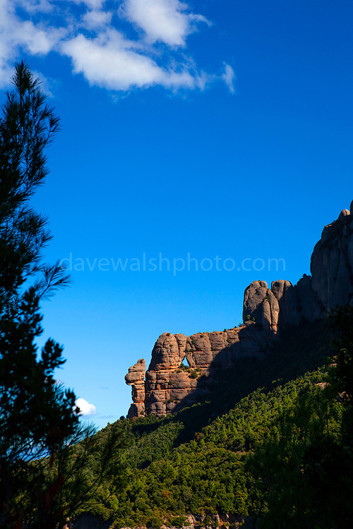 The mountain of Montserrat, near Barcelona, Catalonia, Spain