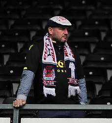 General view as Bolton Wanderers fans look dejected after being relegated to league 1 - Mandatory by-line: Jack Phillips/JMP - 09/04/2016 - FOOTBALL - iPro Stadium - Derby, England - Derby County v Bolton Wanderers - Sky Bet Championship