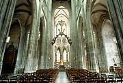 France, Normandy.  Rouen, Eglise St Maclou - int.