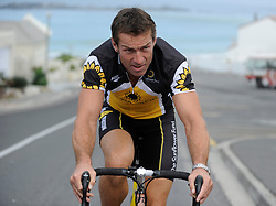 Cape Town- 100309. Former rugby great Corne Krige during a practice run. He will be riding the Pick & Pay Argus cycle tour for the Sunflower Foundation to raise awareness and funds in aid of leukemia sufferers. Picture Ian Landsberg