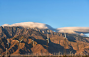 San Jacinto Mountains and the Windmills Near Palm Springs