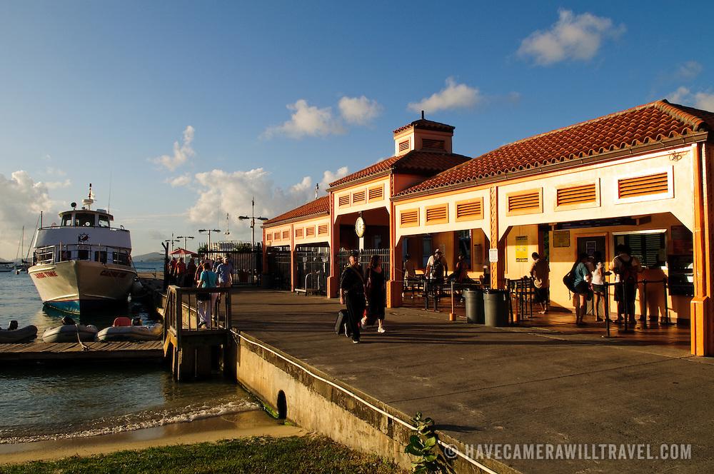 Main ferry terminal on Cruz Bay on St. John in the US Virgin Islands